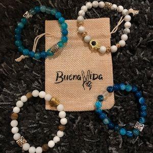 Set of 4 Buena Vida bracelets with pouch!! NWOT
